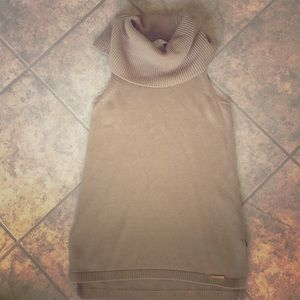 Michael Kors turtleneck sleeveless sweater